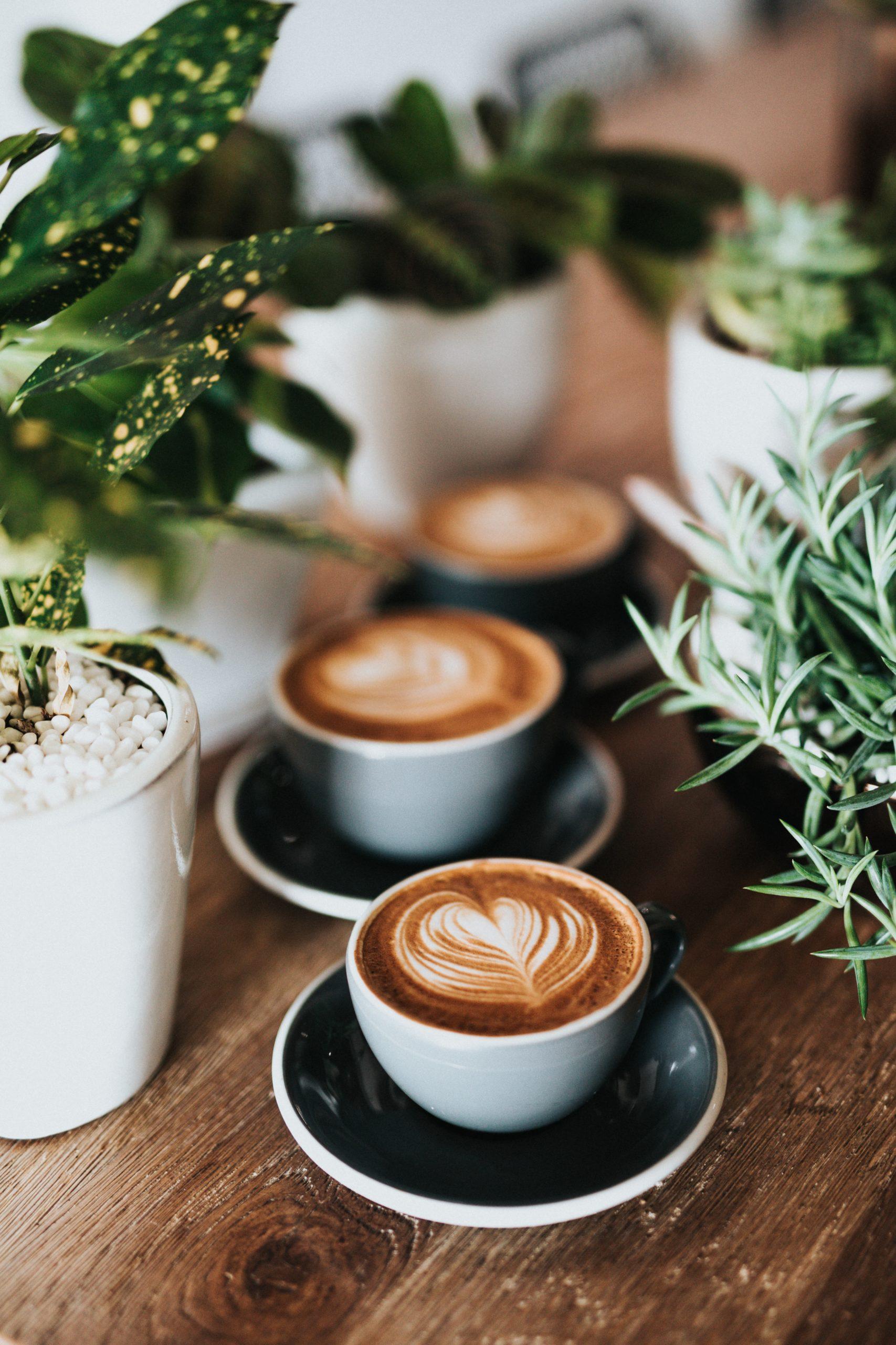 Tre kaffekopper